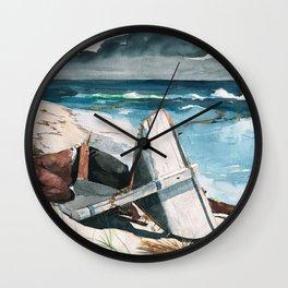 Winslow Homer1 - After The Hurricane, Bahamas - Digital Remastered Edition Wall Clock
