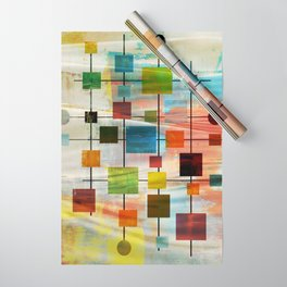 Mid-Century Modern Art 1.3 -  Graffiti Style Wrapping Paper