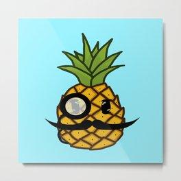 Dapper Pineapple Metal Print