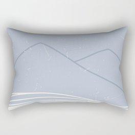 striped ocean art Rectangular Pillow