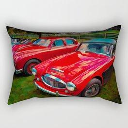 Austin Healey British Sports Car Rectangular Pillow