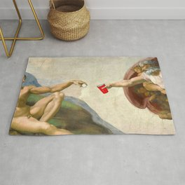 Sistine of Beer Pong Rug