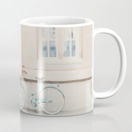 a mint green bicycle is the perfect way to travel around Cambridge Coffee Mug