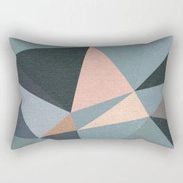 Moody urban Geometry - blue grey peach Rectangular Pillow