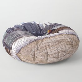 New York Mandala Floor Pillow