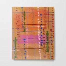 Amber Snakeskin Abstract, Orange, Pink, Caramel Metal Print