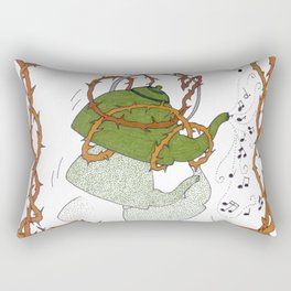 Tea for Two -- Whistling and Dancing Tea Kettle Rectangular Pillow