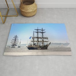 Majestic sailing view, Boston MA Rug