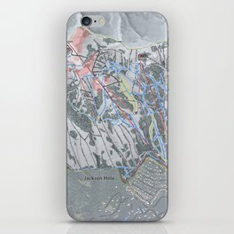 Jackson Hole Mountain Resort Trail Map iPhone Skin