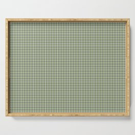 Dark Olive Green Gingham Serving Tray