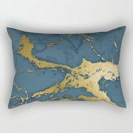Blue Azul Marble Rectangular Pillow