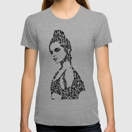 Kanji Calligraphy Art :woman's face #30 T-shirt