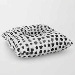 Dots (Black) Floor Pillow