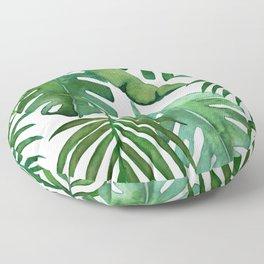 Tropical Greenery Floor Pillow