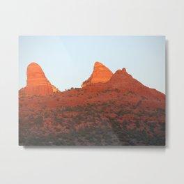 Sunset on the Red Rocks of Sedona Metal Print