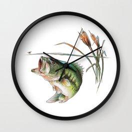 Bass Sketch Wall Clock