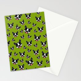 Milo The Boston Terrier #2 Stationery Cards
