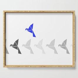 Be Blue Birdie Serving Tray