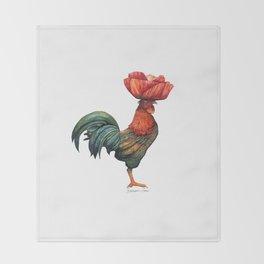 Poppycock 1 Pun Throw Blanket