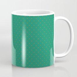 Extra Small Orange on Elf Green Polka Dots Coffee Mug