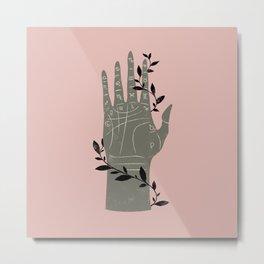 The Palmistry Hand Metal Print