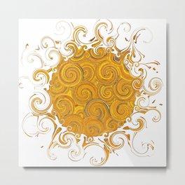 Abstract Sun-Barbara Chichester Metal Print