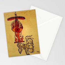 misterio visual 22: fuego eterno Stationery Cards