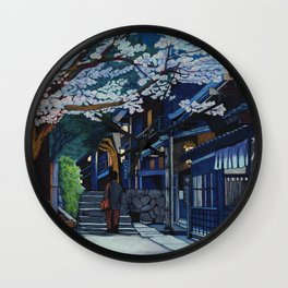 Under the Cherry Blossoms, Spring Wall Clock