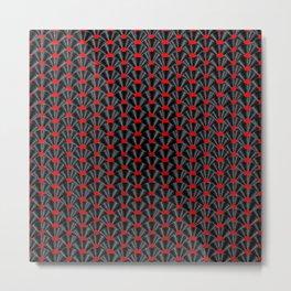 Covered in Vinyl / Vinyl records arranged in scale pattern Metal Print