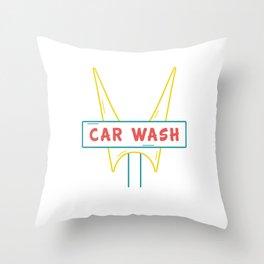 Car Wash Throw Pillow