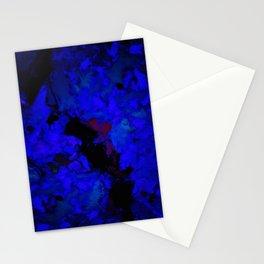 A dark blue crash Stationery Cards