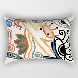Abstract Libra Zodiac Sign Rectangular Pillow