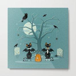Halloween Hell Cats ©studioxtine Metal Print