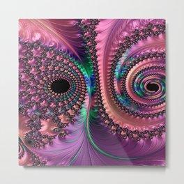 Purple Swirls Fractal Metal Print