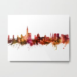 Strasbourg France Skyline Metal Print