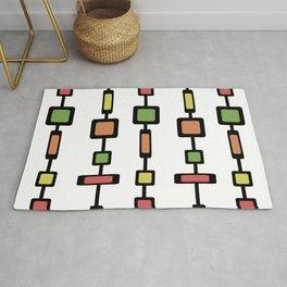 Mid Century Squares Art Rug