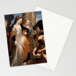 Queen Tomyris Plunges the Head of the Dead Cyrus Into a Vessel of Blood-Rubens Stationery Cards