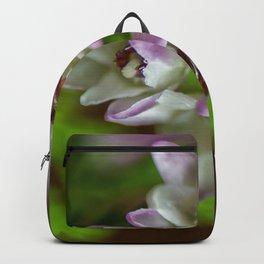 Heather Spring flower evergreen bloom purple white green Briar Backpack