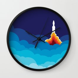 Space Rocket Launch Wall Clock