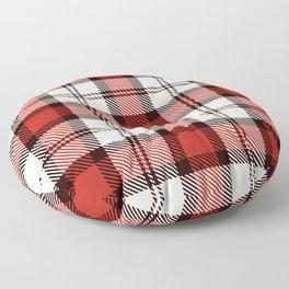 Christmas Tartan Plaid Floor Pillow