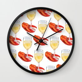 Wine and Lobster Claw Wall Clock