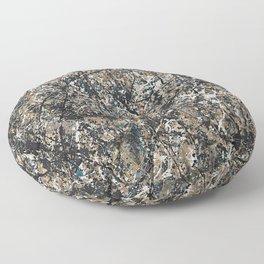 Jackson Pollock - One: No. 31, 1950 - Exhibition Poster Floor Pillow