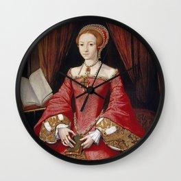 QUEEN ELIZABETH I - The Young Princess Wall Clock