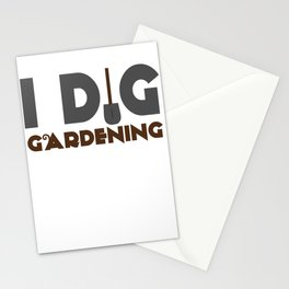 I Dig Gardening Stationery Cards
