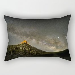 Milky way over the old observatory. Sierra Nevada Rectangular Pillow