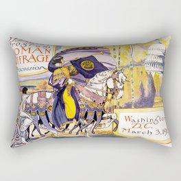 1913 Women's rights march Washington Rectangular Pillow