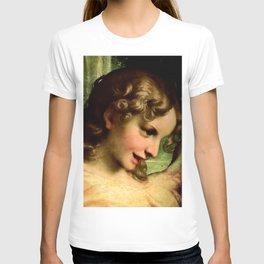 "Antonio Allegri da Correggio ""Madonna of St. Jerome""(detail) Angel T-shirt"