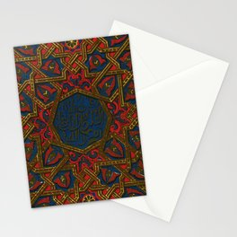 Islamic Geometry Orientalist Middle eastern Arabian Persian Vintage Style Moroccan Rugs Stationery Cards