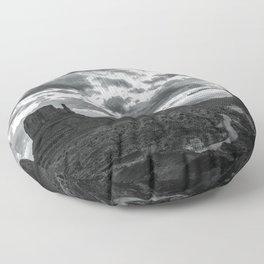 Southwest Wanderlust - Monument Valley Sunrise Black and White Floor Pillow