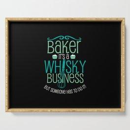 Baker Baking  Whiskey Gift Serving Tray